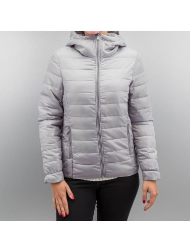 Authentic Style Damen Winterjacke Puffed in grau