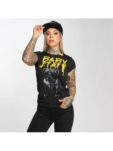 Babystaff Mujeres Camiseta Delsa in negro