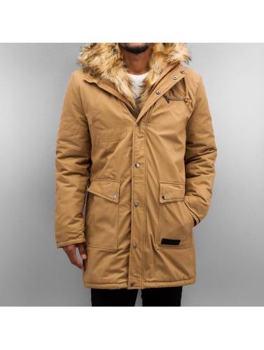 Bangastic Hombres Abrigo Fake Fur in marrón