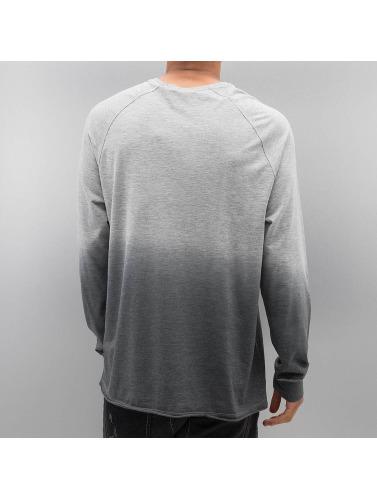 Bangastic Hombres Camiseta de manga larga AE189 Oversize in gris