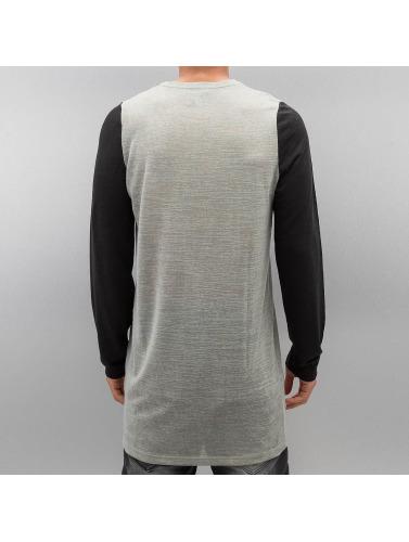 Bangastic Hombres Camiseta de manga larga Boshes in gris