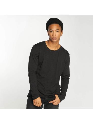 Bangastic Hombres Camiseta de manga larga Ernest in negro