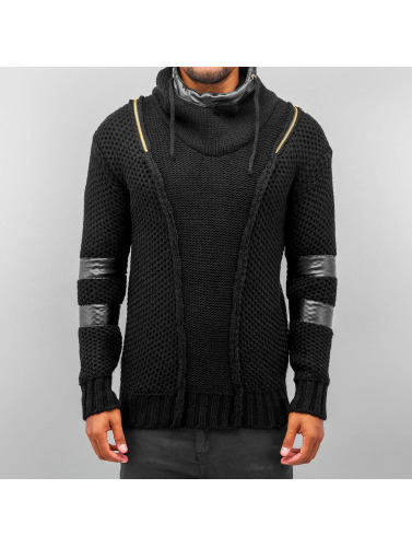 Bangastic Herren Hoody Knitted Force in schwarz