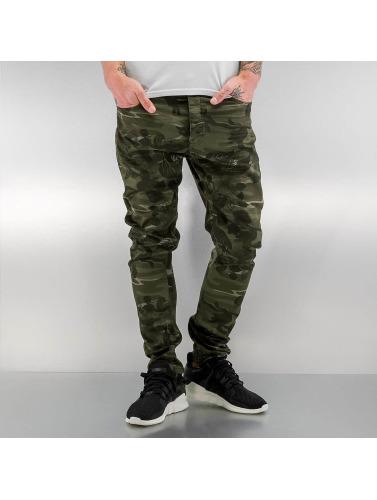 Bangastic Hombres Jeans ajustado Paul in camuflaje