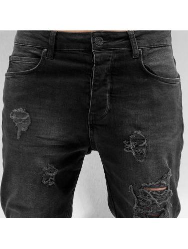 Bangastic Hombres Jeans ajustado K125 in negro