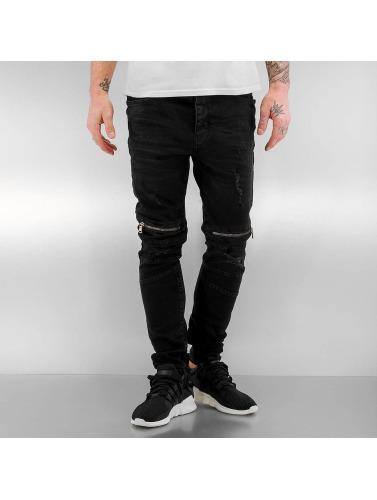 Bangastic Hombres Jeans ajustado Mika in negro