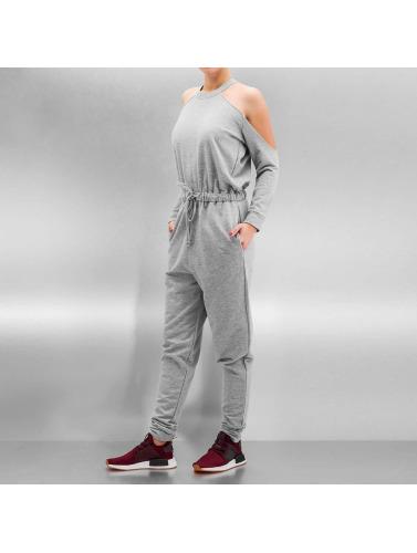 Bangastic Damen Jumpsuit Backless in grau