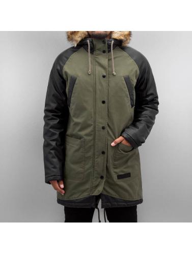 Modestil Original Zum Verkauf Bangastic Herren Mantel PU Sleeves in grün Bestseller Zum Verkauf YCiKbJ7VR