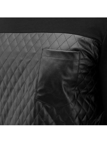 Bangastic Herren Pullover Quilted in schwarz