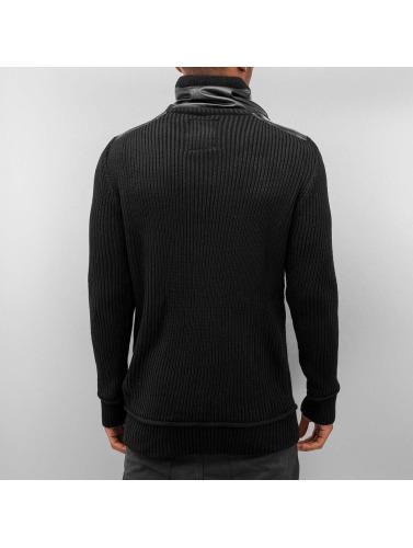 Bangastic Herren Pullover Knitted in schwarz