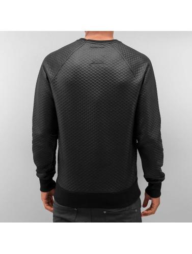 Bangastic Herren Pullover Quilt in schwarz