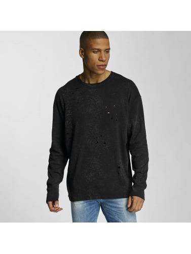 Bangastic Herren Pullover Crinkle in schwarz