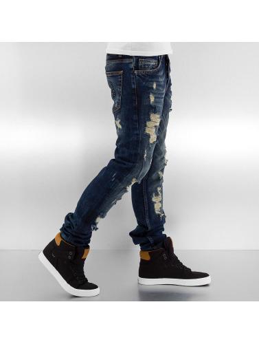 Bangastic Herren Skinny Jeans Destroyed in blau