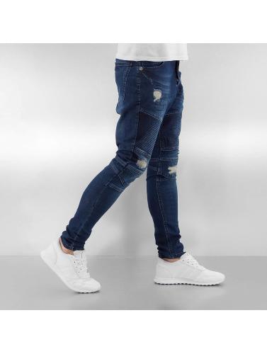 Bangastic Herren Slim Fit Jeans Quilted in indigo