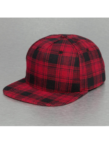 Bangastic Snapback Cap Checked in rot