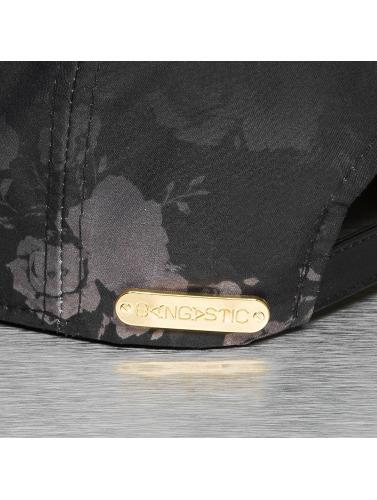 Bangastic Snapback Cap Flower in schwarz