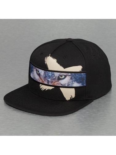 Bangastic Snapback Cap Wolf in schwarz