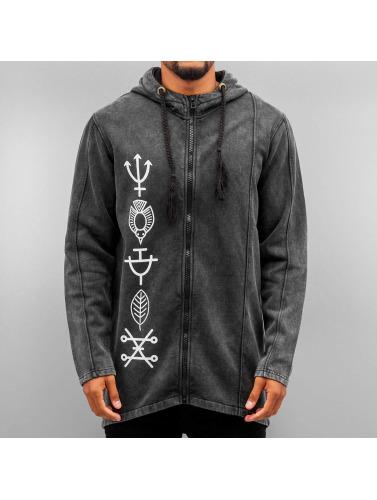 Bangastic Hombres Sudaderas con cremallera Symbols in negro