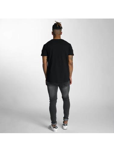 Bangastic Herren T-Shirt Zip in schwarz
