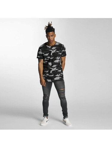Bangastic Herren T-Shirt Camo in schwarz