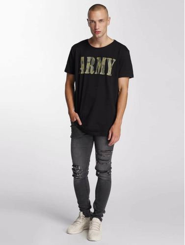 Bangastic Herren T-Shirt Team Army in schwarz