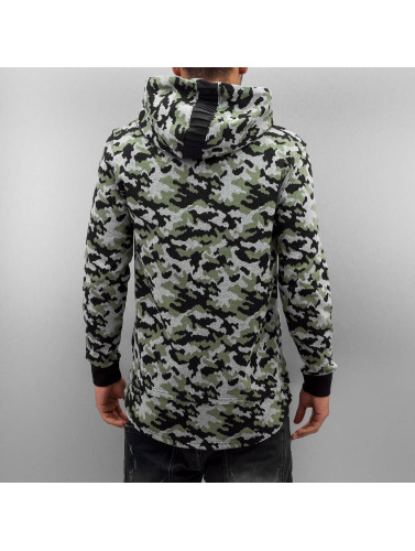 Bangastic Herren Zip Hoodie Cona in camouflage