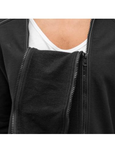 Bangastic Herren Zip Hoodie Doppel Zip in schwarz