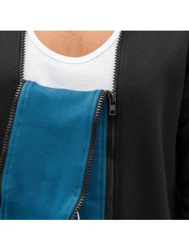 Bangastic Herren Zip Hoodie Doppel Zip II in schwarz