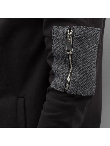 Bangastic Herren Zip Hoodie Double in schwarz