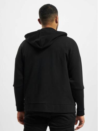 Bangastic Herren Zip Hoodie AE463 Oversize in schwarz