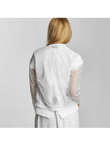 Bench Damen Bomberjacke Transparent Indoor in weiß