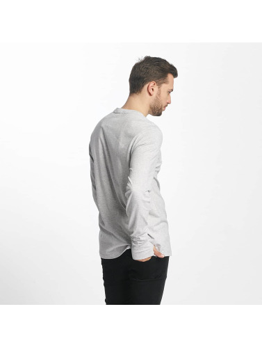 Bench Hombres Camiseta de manga larga Logo in gris