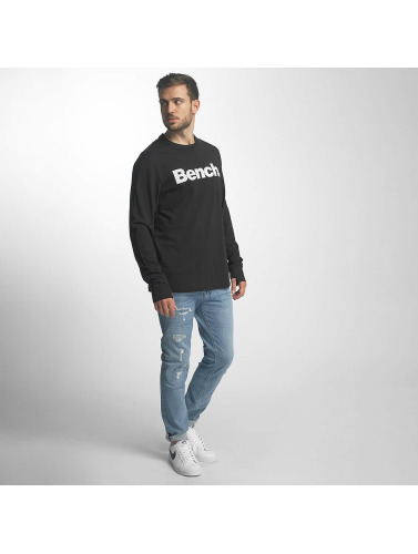 Bench Hombres Camiseta de manga larga Logo in negro