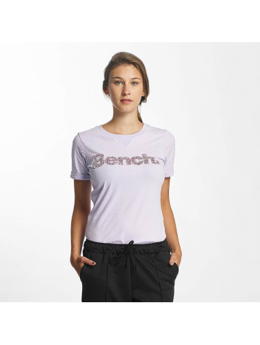 Bench Mujeres Camiseta Core Logo in púrpura