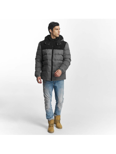 Bench Hombres Chaqueta de entretiempo Wool Look Down in gris