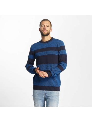 Bench Herren Pullover Structured Stripe in blau