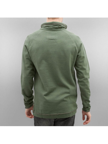 Bench Herren Pullover Raglan High Neck in khaki