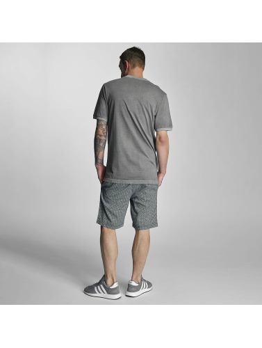 Bench Herren T-Shirt Henley in grau