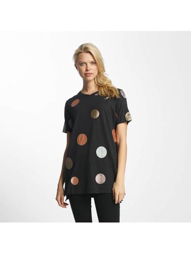 Bench Damen T-Shirt Foil Dots in schwarz