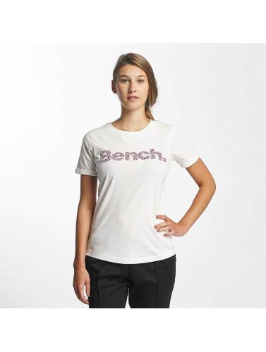 Bench Damen T-Shirt Core Logo in wei