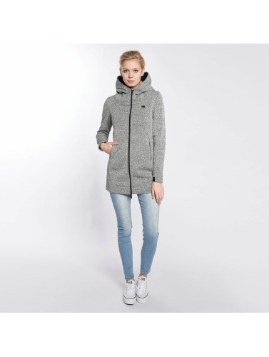 Bench Damen Übergangsjacke Long Bonded in grau