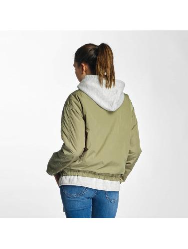 Bench Damen Übergangsjacke Oversized 2 in 1 Look in grün