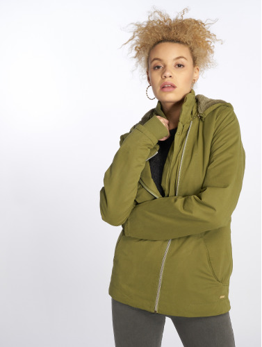 Bench Damen Übergangsjacke Asymmetric in olive