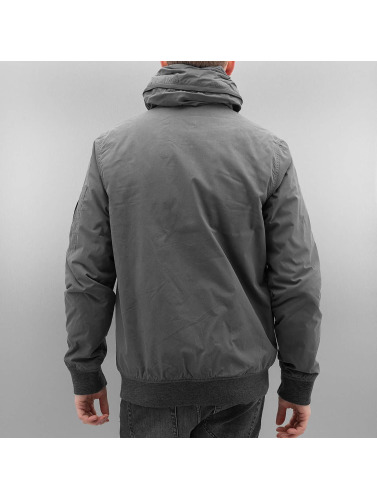 Bench Herren Winterjacke Bomber in grau