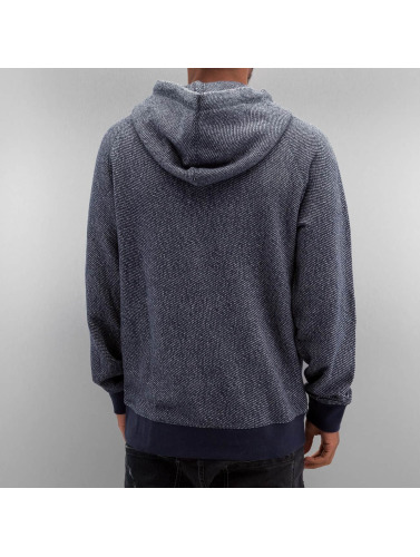 Sweat-shirt À Capuche Zip Pour Hommes Composer En Bleu