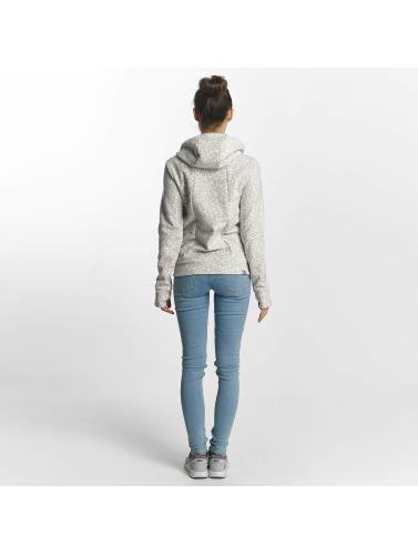 Bench Damen Zip Hoodie Fleece in grau