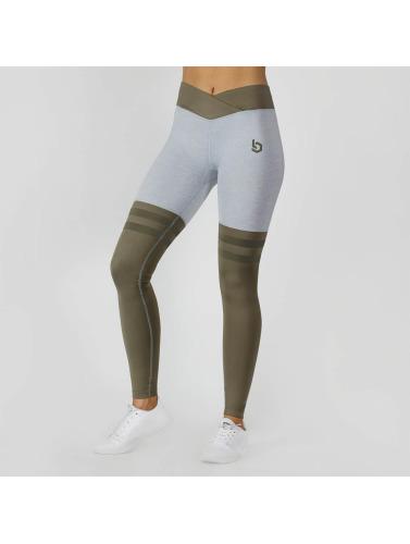 Beyond Limits Damen Legging Overknee Stripe in grau