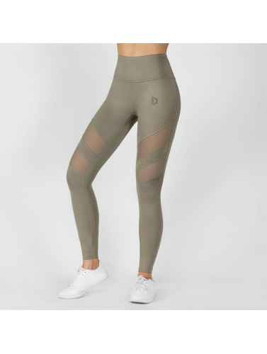 Beyond Limits Damen Legging Super High Waist Mesh in khaki