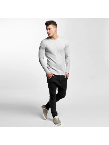 Black Kaviar Hombres Jersey Severy Knit in gris