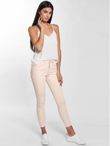 Blend She Damen Skinny Jeans Bright Jazy Crop in rosa
